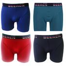 4-pack-Heren-boxershorts-Elegance-Blauw-Rood-Marine-Petrol
