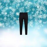 Unisex thermo pantalon Zwart_