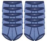 10-Pack heren slips M2000 Blauw_