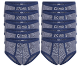 10-Pack heren slips Jupiter Blauw_