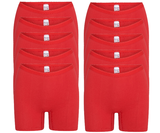 10-Pack dames boxershorts Softly Rood_