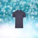 Unisex Thermo shirt met K.M. Grijs_
