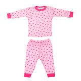 Baby Pyjama M3000 Stripe/Star Roze_