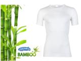 5-Pack Boru Bamboo heren T-shirts K.M. Wit  extra lang_