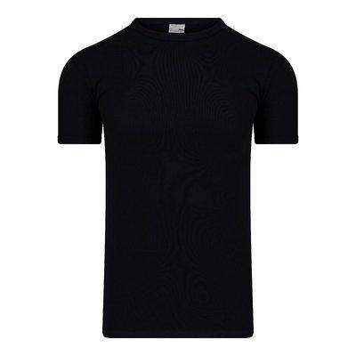 Heren T-shirt met O-hals en K.M. M3000 Zwart