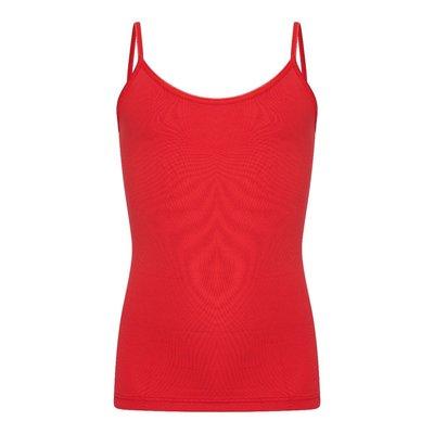 Meisjes spaghetti hemd (top) Elegance Rood