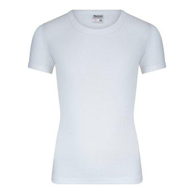 Jongens T-shirt met O-Hals en K.M. M3000 Wit