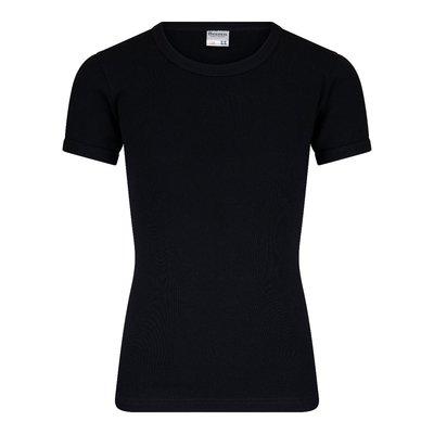Jongens T-shirt met ronde hals en K.M. M3000 Zwart