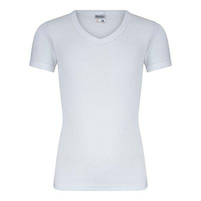 Jongens T-shirt met V-hals en K.M. M3000 Wit