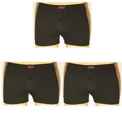 Basic 3-Pack Wijdvallende heren boxershorts Zwart