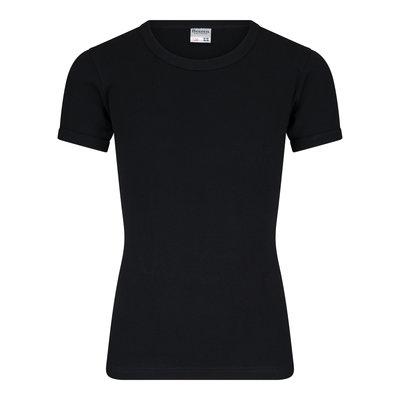 Jongens T-shirt met O-Hals en K.M. M3000 Zwart