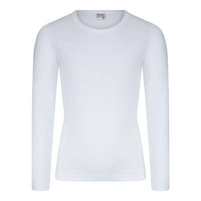 Jongens T-shirt met O-hals en L.M. M3000 Wit