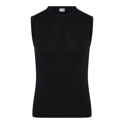 Heren mouwloos shirt met O-Hals Beeren Young (Tactel) Zwart