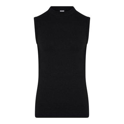 Heren mouwloos shirt O-Hals Comfort Feeling Zwart
