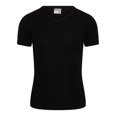 Jongens T-shirt met V-hals en K.M. M3000 Zwart