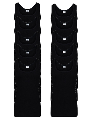 10-pack Heren singlets M3000 Zwart