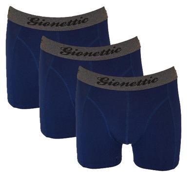 3-Pack Gionettic Modal Heren boxershorts Marine