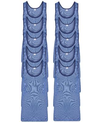 10-Pack Heren singlets M2000 Blauw