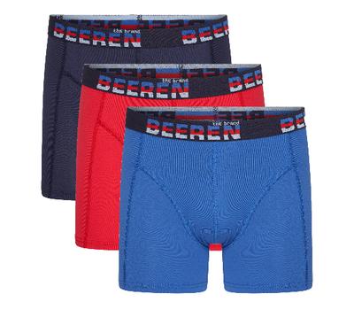 3-pack Heren boxershorts Elegance Blauw/Rood/Marine