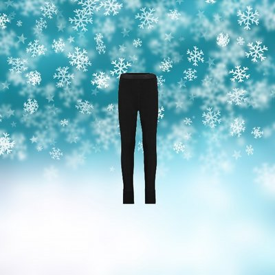 Kinder Thermo Pantalon Zwart
