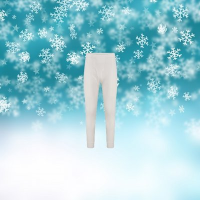 Thermo heren lange pantalon Wolwit