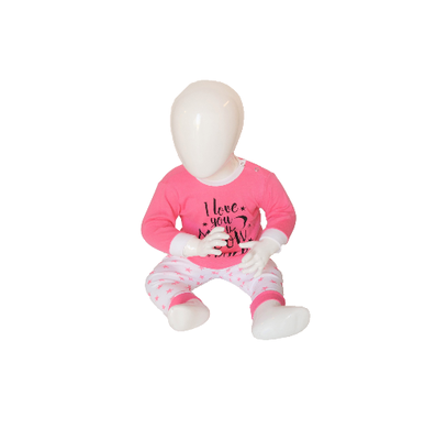 "Baby pyjama Beeren ""To the Moon"" Roze"