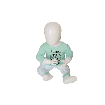 "Baby pyjama Beeren ""To the Moon"" Mint"