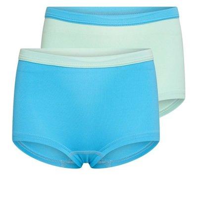 2-Pack Mix&Match meisjes boxershorts Mint/Turqouise