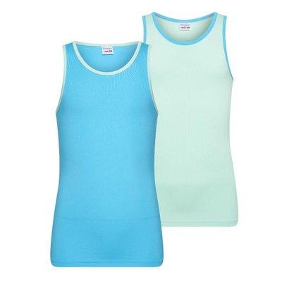 2-Pack Mix&Match meisjes hemden Mint/Turqouise