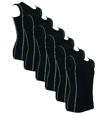 6-Pack Jongens mouwloze shirts B.Y. Ricardo Groen