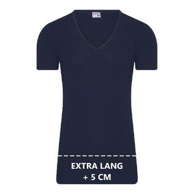 Extra lang heren T-shirt met Diepe V-hals M3000 Marine