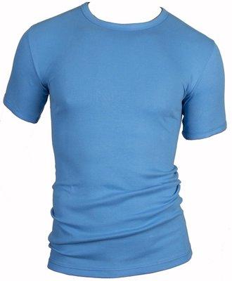 Heren T-shirt ronde hals en K.M. M3000 Bleu