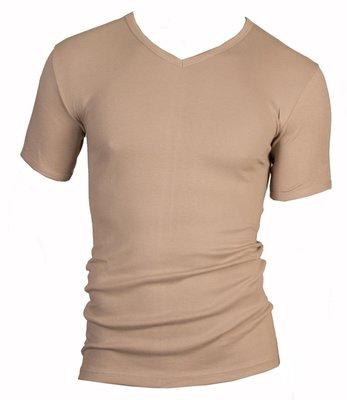 Heren T-shirt met V-hals en K.M. M3000 Huid