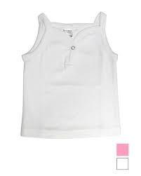 Baby shirt met spaghettibandjes Wit
