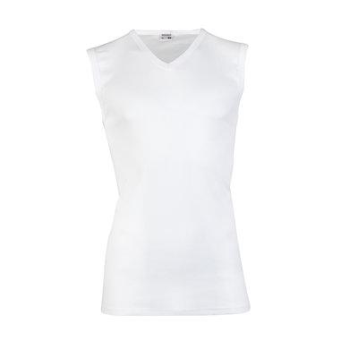 Heren mouwloos shirt met V-hals M3000 Wit