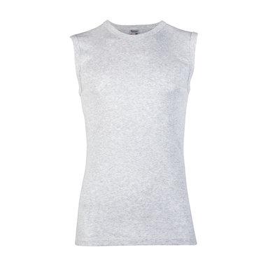 Heren mouwloos shirt met ronde hals M3000 Grijs Melee