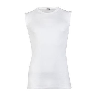 Heren mouwloos shirt met ronde hals M3000 Wit