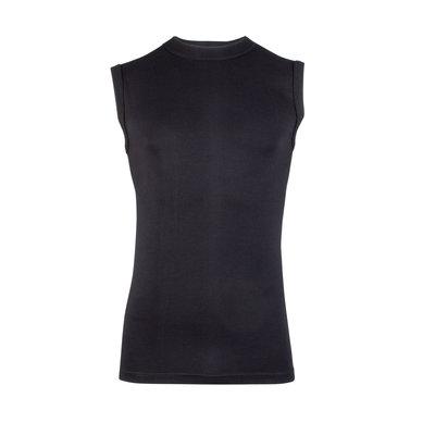 Heren mouwloos shirt met ronde hals Comfort Feeling Zwart