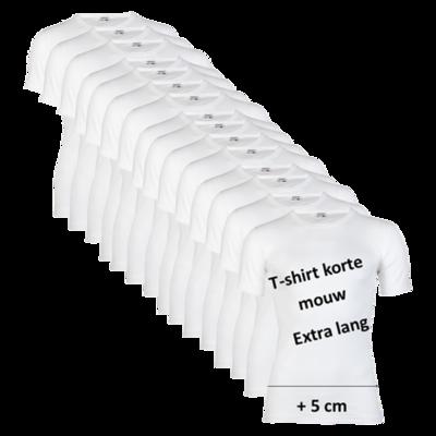 15-pack Extra lange heren T-shirts M3000 Wit
