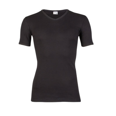 Jongens T-shirt met V-hals M3000 Zwart
