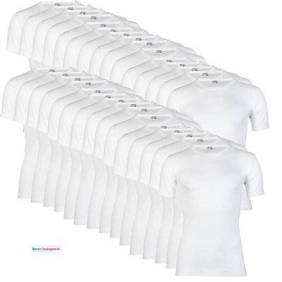 30-pack Heren T-shirts met ronde hals en K.M. M3000 Wit