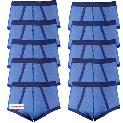 10-pack heren slips M2000 Blauw