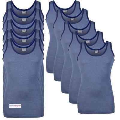 10-pack Heren singlets Jupiter Blauw