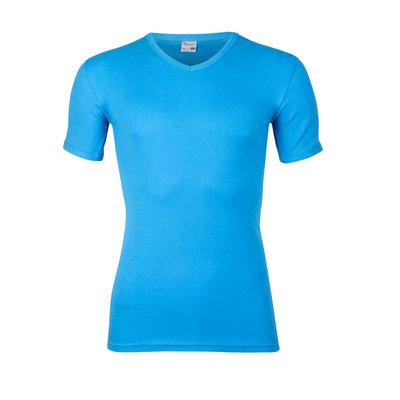 Heren T-shirt met V-hals en K.M. M3000 Bleu
