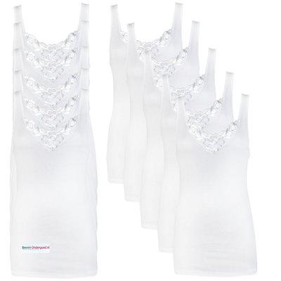 10-pack Dames hemden Viola Wit