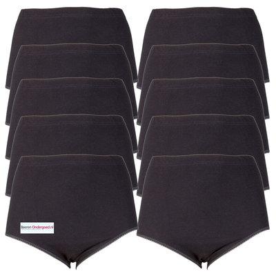 10-pack Dames tailleslips (Maxi) Briljant Zwart