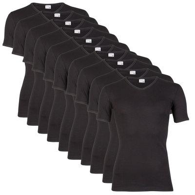 10 stuks Heren T-shirts V-hals Beeren zwart