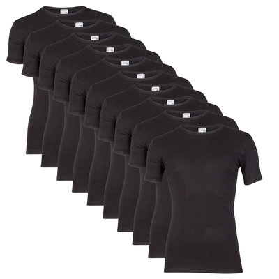 10 stuks Heren T-shirts (Tino's) K.M. Beeren zwart