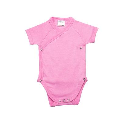 Baby overslag romper M3000 Prisma Roze