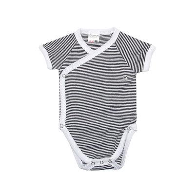 Baby overslag romper Zwart/Wit